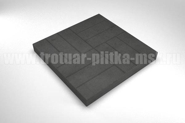 плитка 12 кирпичей черная