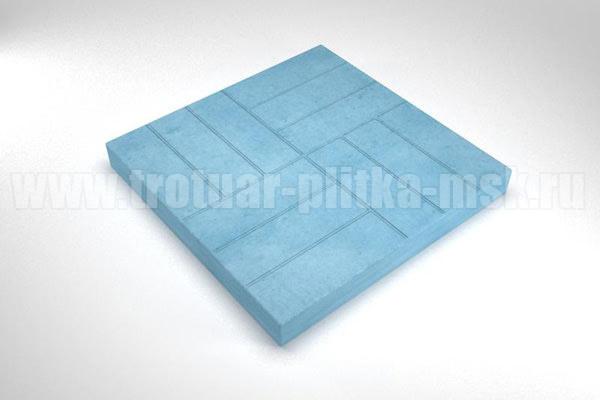 плитка 12 кирпичей синяя