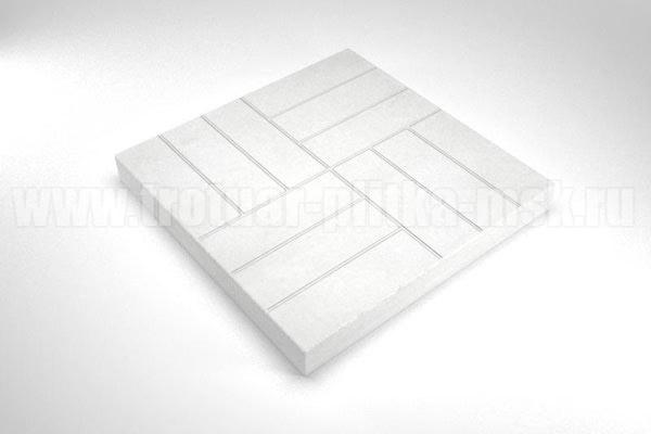 плитка 12 кирпичей белая