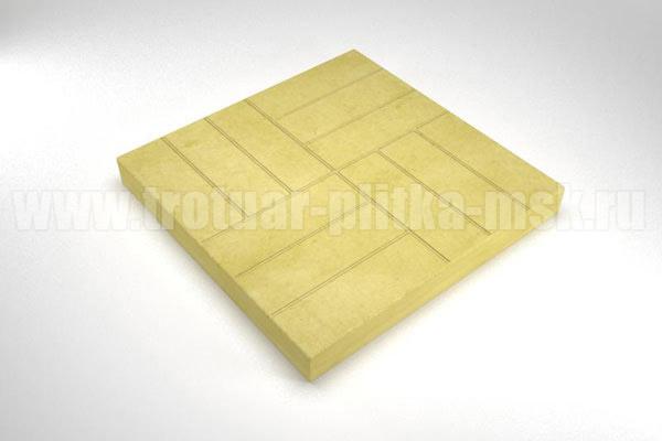 плитка 12 кирпичей желтая