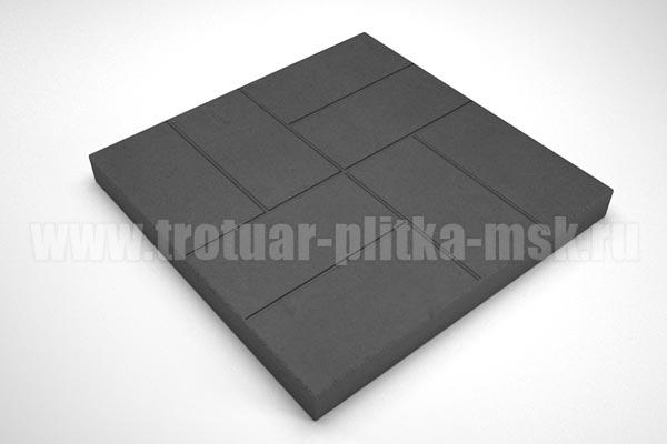 плитка 8 кирпичей 30мм черная