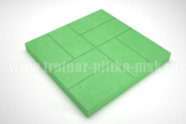 плитка 8 кирпичей 30мм зеленая