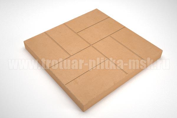 плитка 8 кирпичей 30мм оранжевая