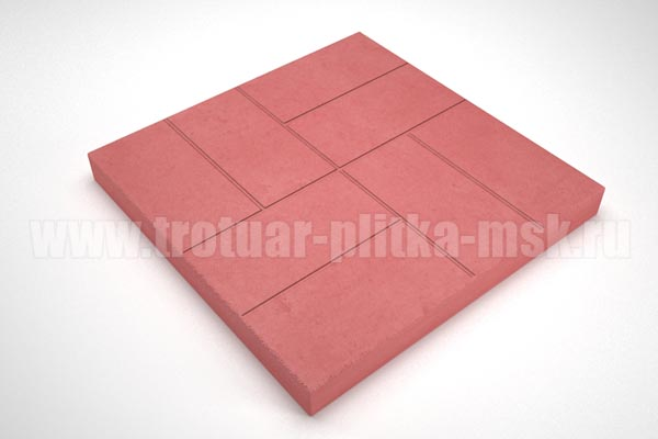плитка 8 кирпичей 30мм красная