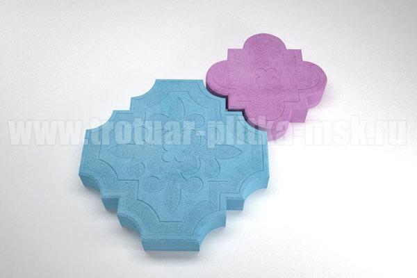 плитка гжелка синяя с розовой