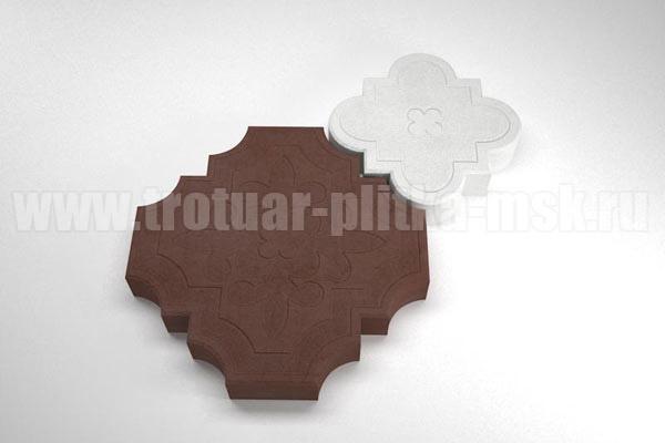 плитка гжелка коричневая с белой