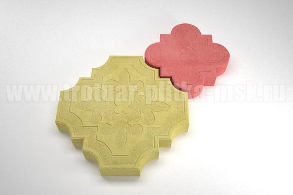 плитка гжелка желтая с красной