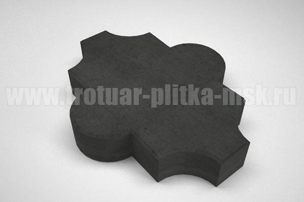 плитка клевер гладкий черная