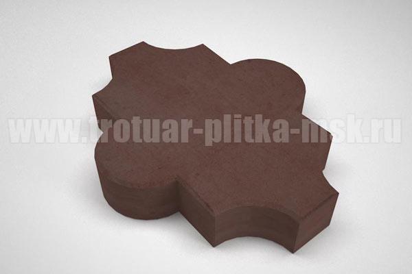 плитка клевер гладкий коричневая
