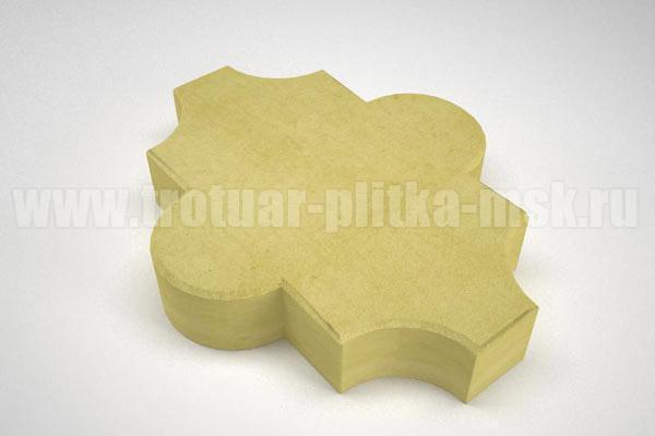 плитка клевер гладкий желтая