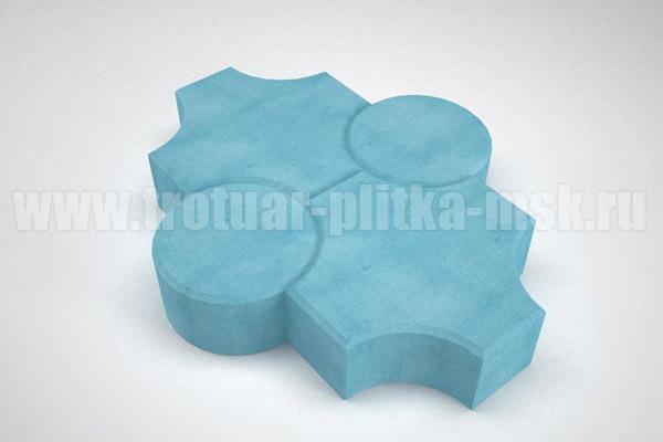 плитка клевер рельефный синяя
