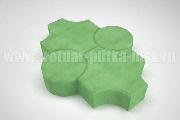плитка клевер рельефный зеленая