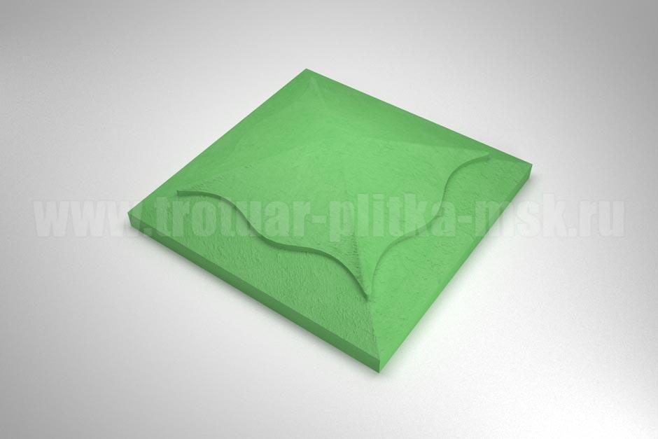 крышка на столб зеленая