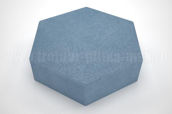 плитка шестигранник синяя