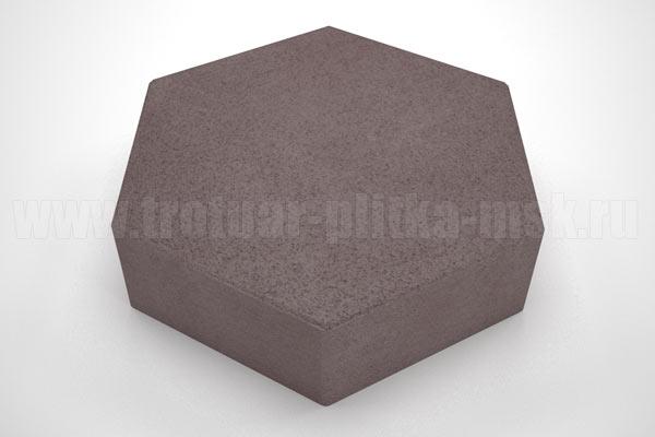 плитка шестигранник коричневая