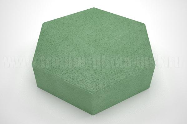 плитка шестигранник зеленая