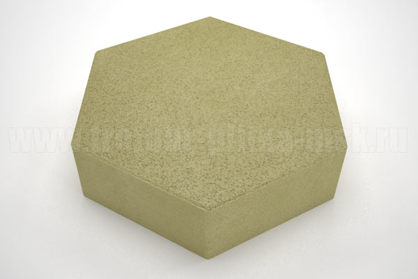 плитка шестигранник желтая