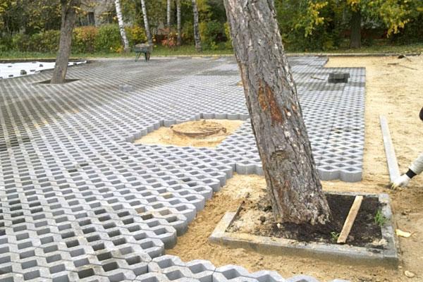 газонная тротуарная плитка