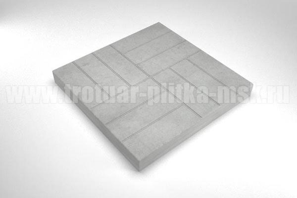 плитка 12 кирпичей серая