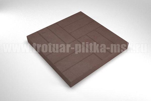 плитка 12 кирпичей коричневая