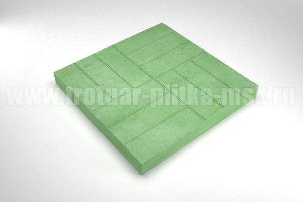 плитка 12 кирпичей зеленая
