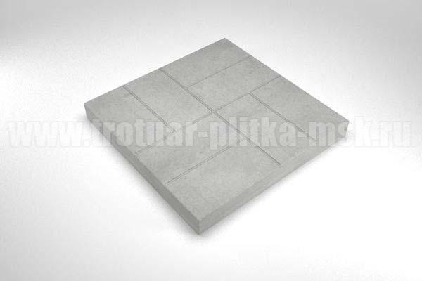 плитка 8 кирпичей серая