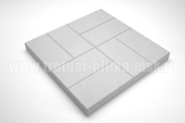 плитка 8 кирпичей 30мм серая