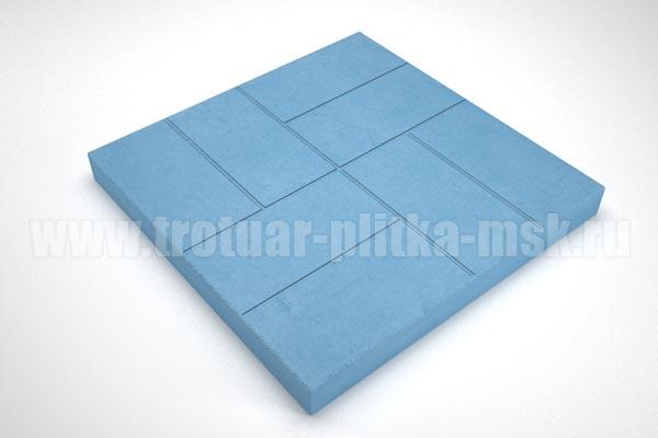 плитка 8 кирпичей 30мм синяя