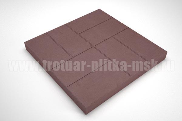 плитка 8 кирпичей 30мм коричневая
