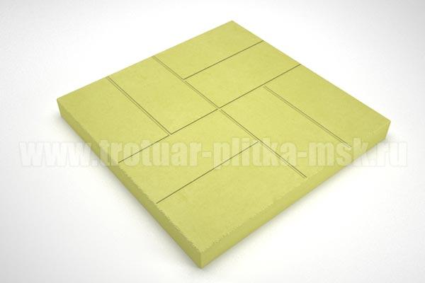 плитка 8 кирпичей 30мм желтая