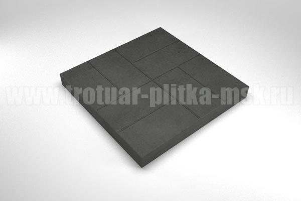 плитка 8 кирпичей черная