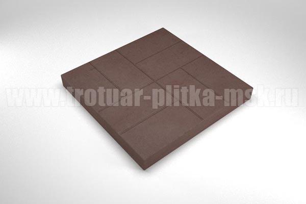 плитка 8 кирпичей коричневая