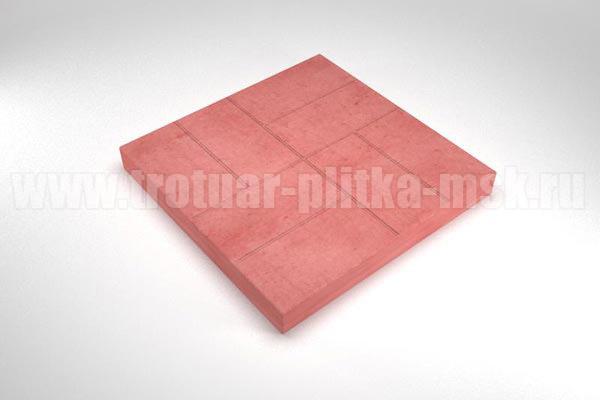 плитка 8 кирпичей красная