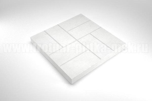 плитка 8 кирпичей белая