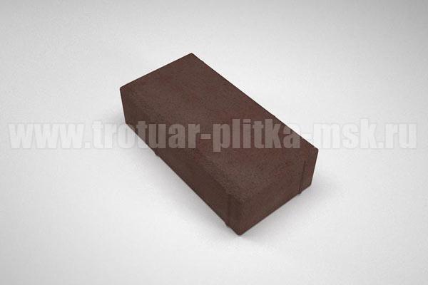плитка брусчатка вибропресс коричневая