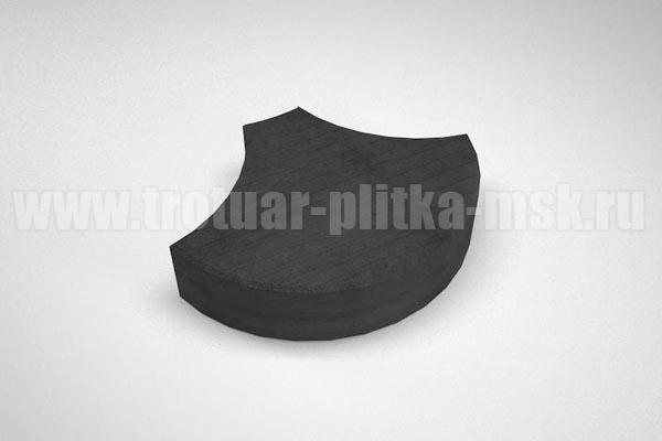 плитка чешуя черная