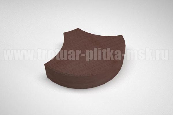 плитка чешуя коричневая