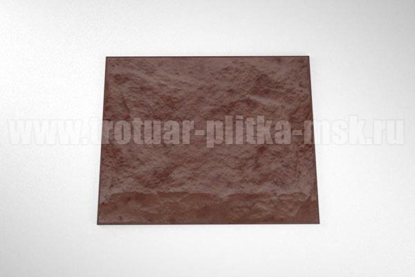 фасадная плитка (270*330) коричневая