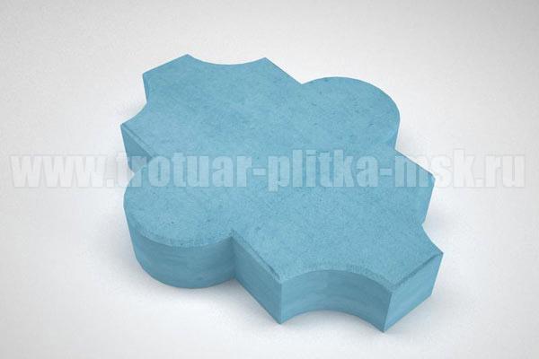 плитка клевер гладкий синяя