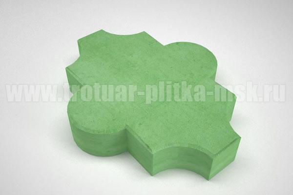 плитка клевер гладкий зеленая