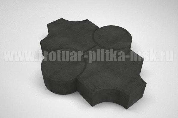 плитка клевер рельефный черная