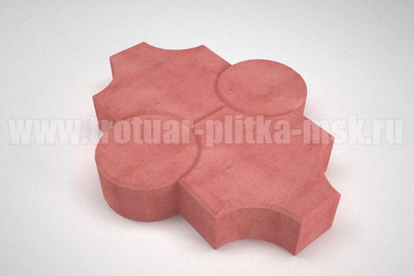плитка клевер рельефный красная