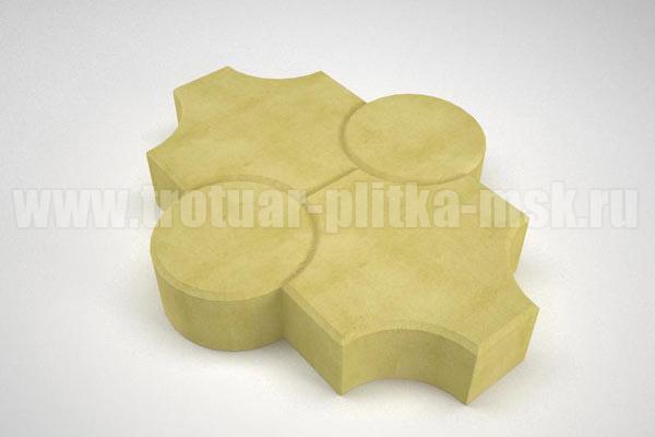 плитка клевер рельефный желтая