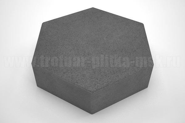 плитка шестигранник черная
