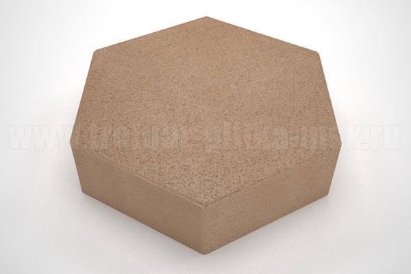плитка шестигранник оранжевая