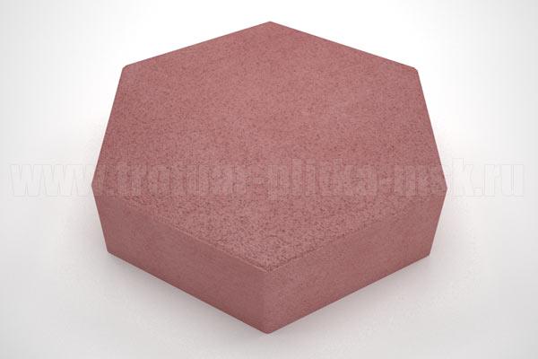 плитка шестигранник красная