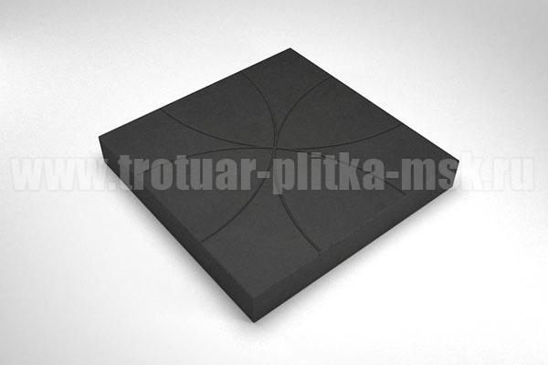 плитка радиус черная