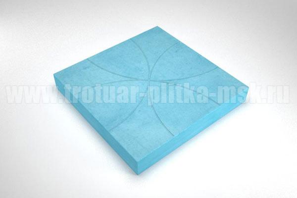 плитка радиус синяя