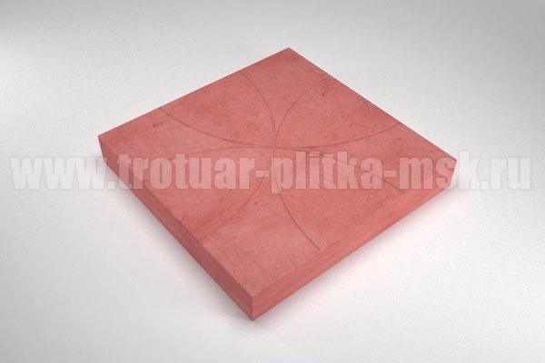 плитка радиус красная