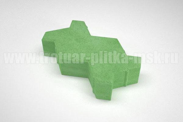 плитка волна вибропресс зеленая